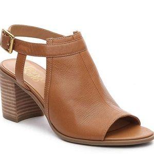 Franco Sarto Harlet Block Heel Peep Toe Sandal